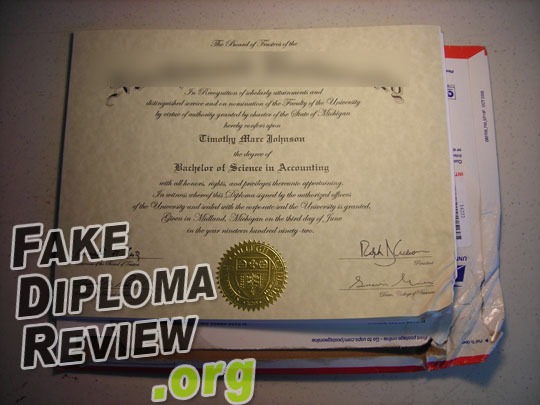 Caught fake diploma