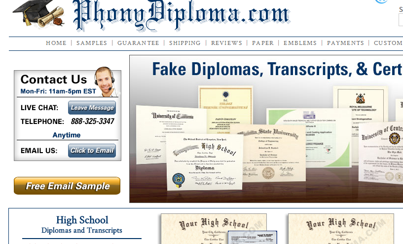 phonydiploma.com review