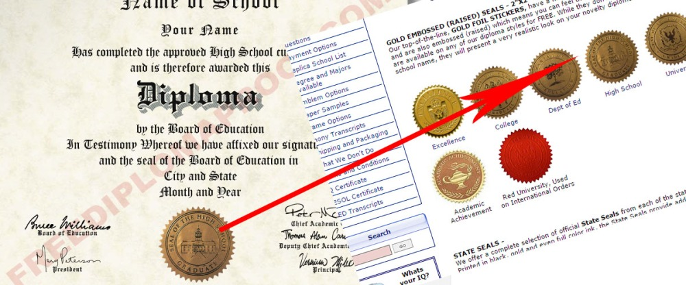 same seals phonydiploma used freediplomaproof now uses